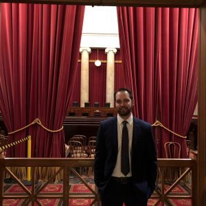 Cody Linderholm at the Supreme Court