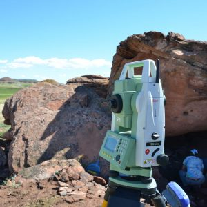 Instrument used to plot correct location during archaeological digs