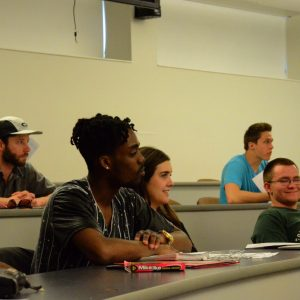 Interdisciplinary liberal arts students in a classroom