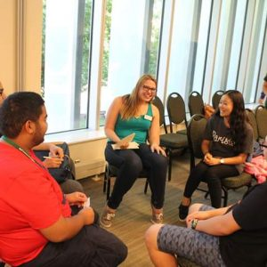Advisor meets with students