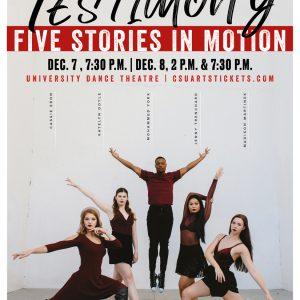 Dance Capstone Concert promotional poster