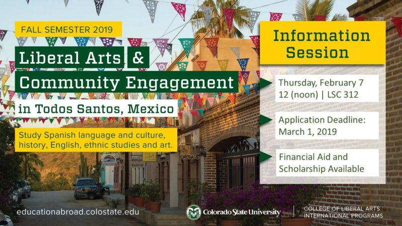 Todos Santos Information Session flyer.