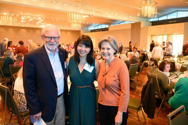 Hannah Hurlbut poses with donors