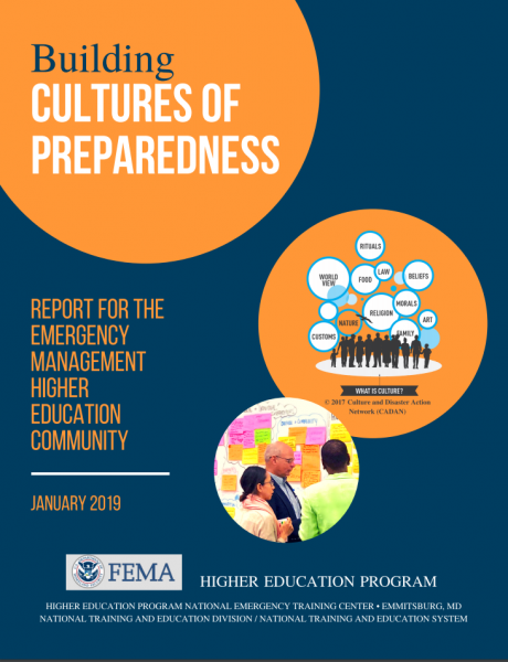Report for the Emergency Management High Education Community, authored by CSU Anthropology Professor Kate Browne