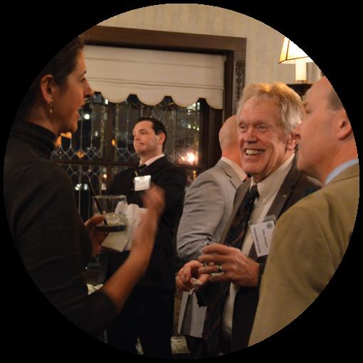 John Straayer attending a Rams JD networking dinner
