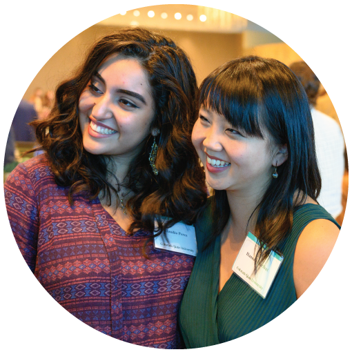 Claudia and Hannah, CLA students, at Fall 2018 Donor Brunch