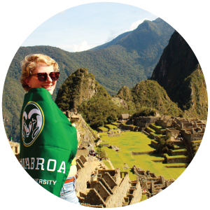 Anna Wiig at Machu Piccu