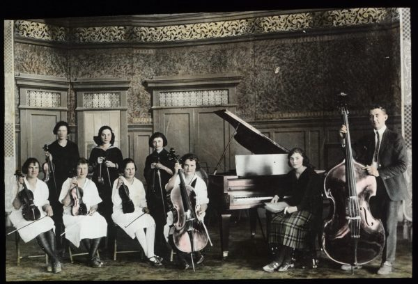 Orchestra students in the early 1900s