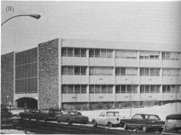 Exterior of Eddy Hall, then called Liberal Arts, in 1968