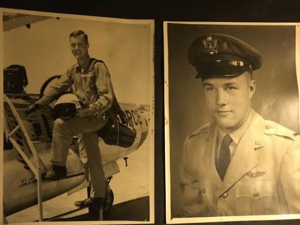 Old airforce photo of Dan Tyler