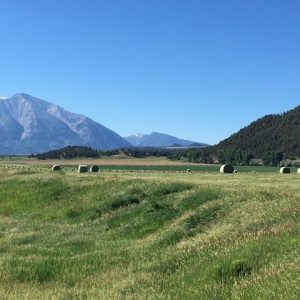 Hay fields at Crystal Ranch in Carbondale, Colorado