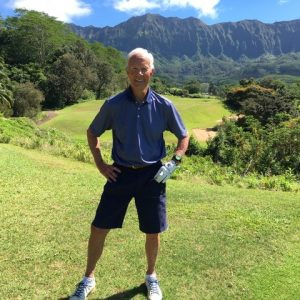 Dan Tyler golfing in Hawaii