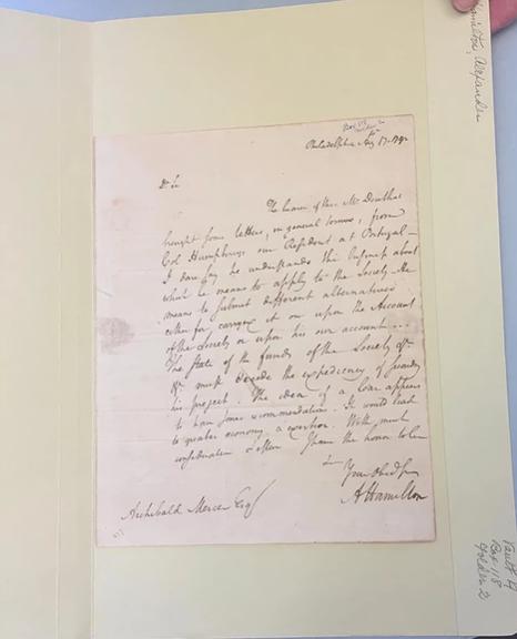 An authentic Alexander Hamilton letter