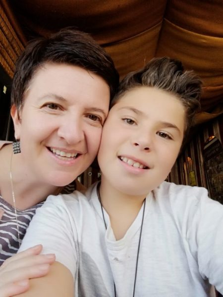 Gamze Cavdar and her son, Ada