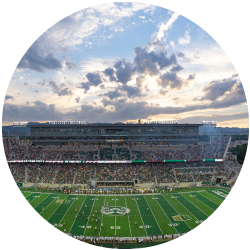 CSU Canvas Stadium during a football game