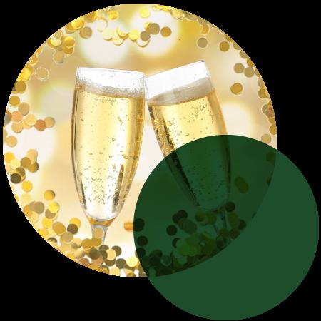 Celebratory champagne flutes