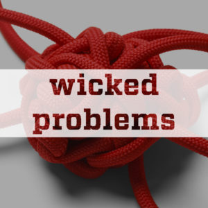 Knot with the words Wicked Problems