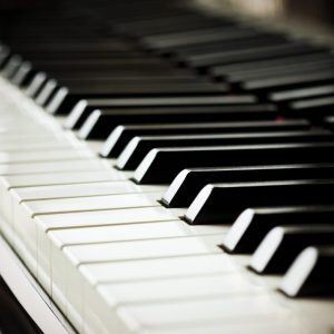 Piano keys pictured