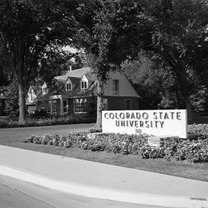 Early Colorado State University sign