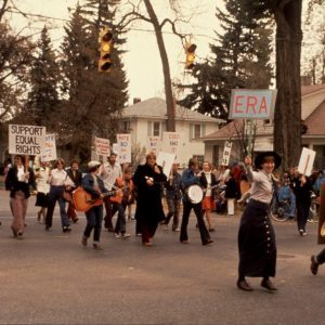 People marching for Equal Rights in the 1970s